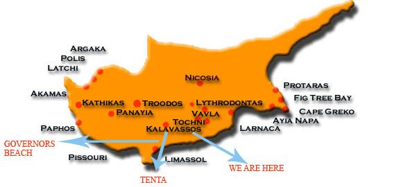 χάρτης κύπρος